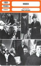 FICHE CINEMA : KNOCK - Jouvet,Brochard,Renoir,Lefranc 1951