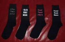 WEDDING PERSONALISED YOUR OWN TEXT MENS SOCKS GIFT