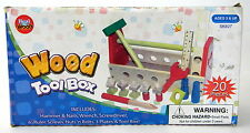 Childrens Wood Tool Box Set Tool Box with Wooden tools