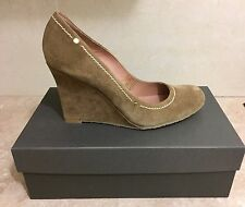 Pied A Terre Wedge Suede Court Shoes - Size 7 (40)
