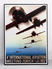 Aviation Festival Poster - Zurich 1937 - Digitally restored art