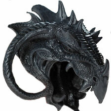 Blarg 14cm Black Dragon Head Ornament / Wall Decoration Plaque