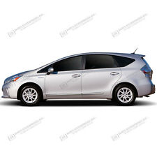 For: TOYOTA PRIUS V; BODY SIDE Moldings Mouldings LOWER CHROMED Trim 2012-2017
