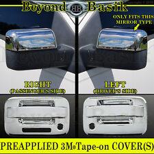 2004-2008 F150 Chrome Door Handles (W/PSK W/Keypad 2Door) Top Mirror Covers Trim
