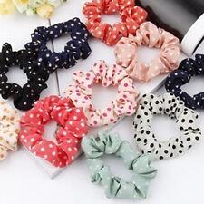 10pcs New Girls elastic hair ties Scrunchie Ponytail Holder Hair Accessories#01