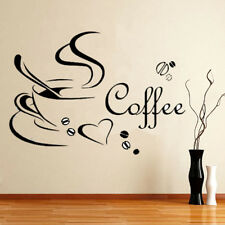 WOW ADESIVI MURALI WALL STICKERS COFFEE LETTERA DECORAZIONI CASA Rimovibile