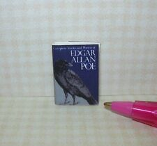 Miniature Edgar Allan Poe Book, Printed Pages, Dust Cover: DOLLHOUSE Book 1/12