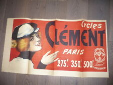 AFFICHE 1890 PAOLO HENRI   CYCLES CLEMENT VELO lithographiee