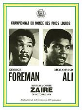 Muhammad Ali  vs George Foreman *POSTER*  BOXING 1974 Heavyweight Champ Fight
