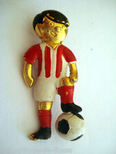 BROCHE ANCIENNE VINTAGE JOUEUR DE FOOTBALL ARGENTINE PLATA * Collection Privée *
