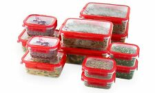 12 Pcs Plastic Food Storage Containers Set With Air Tight Locking Lids
