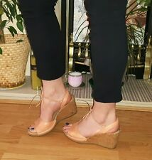 Clarks coral lace up wedges size 5.5 / 38.5