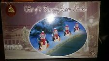 4 Lighted Christmas Penguin Plastic Blow Mold Lawn Stakes Enchanted Forest