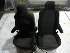 Peugeot 307 2006 1.6 HDI Diesel interior seats front pair black with armrest