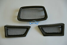 Carbon Fiber Front Mesh Grille 3pcs For Subaru Impreza WRX STi 9th 2006-2007