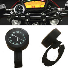 "Universal Waterproof For 7/8"" 1"" Motorcycle Cruiser Handlebar Mount Clock Watch"