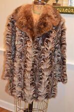 vintage brown sheared raccoon fur coat jacket