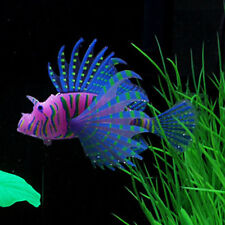 Blue Vivid Lionfish Aquarium Decoration Artificial Fish Tank Water Ornament 01