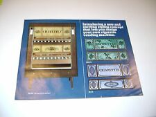 Cigarette Vending Machine Priority Cigarettes Original sales flyer brochure