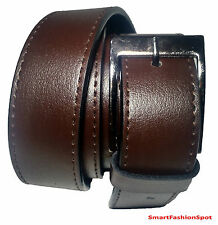 Classic Brown Faux Leather Belt for Men's/Gents Formal or Official wear Buy it