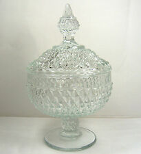 HOME INTERIORS & GIFTS Pressed Glass Vintage Candy Nut Dish Made in USA