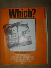 VINTAGE WHICH MAGAZINE DECEMBER 1972 SLIDE PROJECTORS - VAT - MONEY WHICH