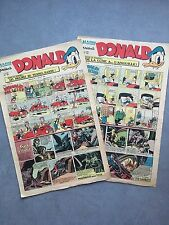 LE JOURNAL DE DONALD / DISNEY / HARDI/ ANNEE 1949/ LOT DE 2 N°