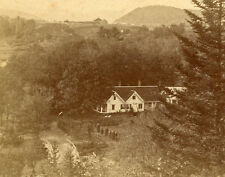 C. POLLOCK & J. BACHELDER STEREOVIEW HOMESTEAD WEST FROM OLD HILL BINGHAM MAINE