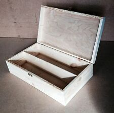 Pine wood 2 compartment e-cig smoking storage box DD141 vape liquid case chest