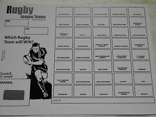 RUGBY LEAGUE SCRATCH CARDS - 40 SPACES PACK OF 10 - DWL FUNDRAISING