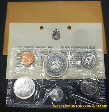 1964 UNCIRCULATED PROOF LIKE SET - CANADIAN 6-COIN SET - ENVELOPE & CERTIFICATE