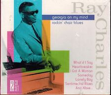 RAY CHARLES - GEORGIA ON MY MIND/ROCKIN' CHAIR BLUES  NEW 2 CD BOX SET