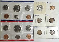 Junk Drawer Coin Lot~USA Coins $ Currency 1990 Mint Set Wheat Penny 1964 Nickel