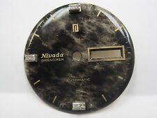 Antique Nivada Grenchen Auto Date/Day Diamond Dial 30 mm round.