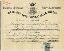 Patrimonio Viviani della Robbia Fattoria di Rubbiana 1919 - Ricevuta di Bestiame