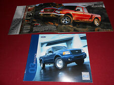 2003 FORD RANGER PICKUP TRUCK 20 p. BROCHURE, CATALOG: XL EDGE XLT TREMOR FX4