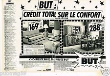 Publicité advertising 1980 (2 pages) Les Magasins de meubles BUT