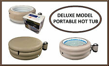 """Deluxe Brun Gonflable Spa - 25"""" Profond - 4 Personnes Spa Portable JL017332NG"""