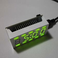 Simple Cuboid Electronic Digital LED Clock DIY Kit White Case USB Interface 41HC