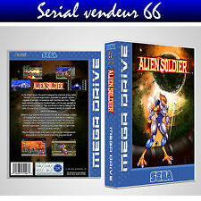"BOX, CASE ""ALIEN SOLDIERS"" . Megadrive. BOX + COVER PRINTED. NO GAME. ENGLISH."