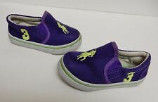 Big Star Polo Player Sneaker Athletic Shoes Toddler Slip Ons Canvas Purple 24 Mo