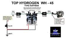 H2, PURE HYDROGEN WH - 45, TYPE HOFFMAN, FUEL SAVER CAR KIT,  INSTEAD HHO USE.
