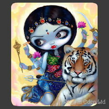 *DURGA & THE TIGER* Strangeling Fairy Art Mouse Mat By Jasmine Becket-Griffith