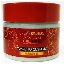 Creme of Nature Twirling Custard Curl Styling Gel With Argan Oil, 11.5 oz