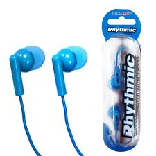 RHYTHMIC BLUE EARPHONES MP3 PLAYER IPOD 3.5MM JACK ULTRA MAX