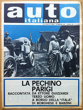 Auto Italiana - 1962 n° 29 - Nautica - Corsa Pechino Parigi - meccanica corse
