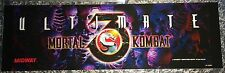 "Ultimate Mortal Kombat 3 Arcade Marquee 25"" x 7.5"""