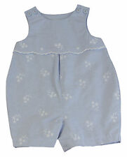 JACADI Girl's Trace2 Chambray Woven Overall Jumpsuit Age: 6 Months NWT $49