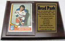 New York Rangers Brad Park Hockey Card Plaque