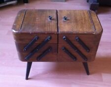 Vintage Wooden 3 Tier Cantilever Sewing Box